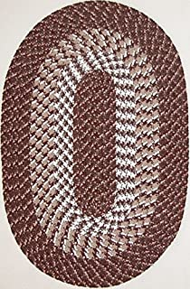 product image for Constitution Rugs Hometown 7' Round Braided Rug in Chocolate Brown