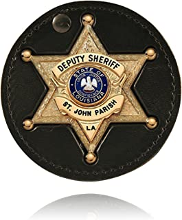 product image for Boston Leather Recessed Circle Badge Holder - 600S-6001