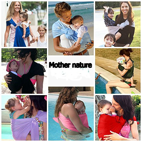 O-bird Nylon Mesh Bird Carrier (Mother nature- Ring sling baby-Great for On-The-Go, Fully-adjustable baby sling)