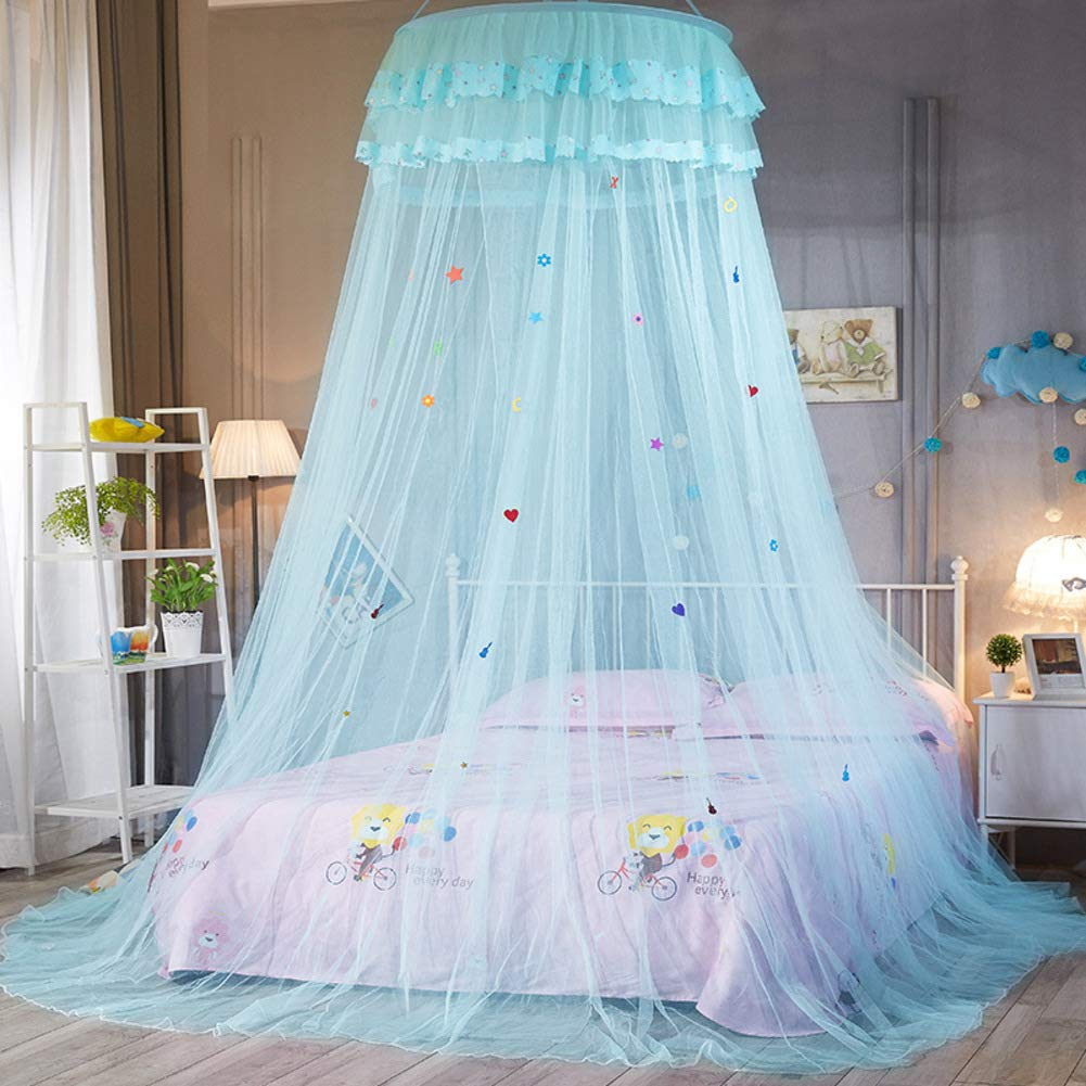KE & LE Tent Mesh Canopy Curtains with Bottom, Princess Gauze Mosquito Net for Bbaby Indoor Outdoor Play Reading Tent Mesh Canopy Curtains with Bottom Hanging Mosquito Net-a by KE & LE (Image #2)