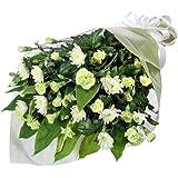 お供え・お悔やみの献花 花キューピットの墓前用花束(一対)(白菊)