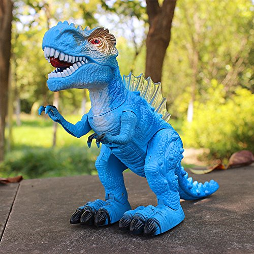 T-Rex Electronic Walking Dinosaur with Flashing Lights and Realistic Animal Sounds (Blue) by Vabliss (Image #4)