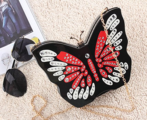 Bags Butterfly Purses Butterfly Chain Clutch Marchome Acrylic with Ladybug Shape Evening XvwqT