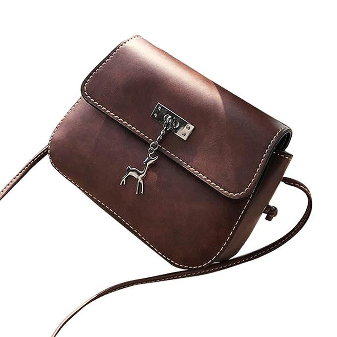12fabf64c6 Familizo 2018 New Women Messenger Bags Vintage Small Leather Handbag Casual  Bag Vintage Stylish Tote Travel Beach Bags Messenger Handbags for Women  Ladies ...
