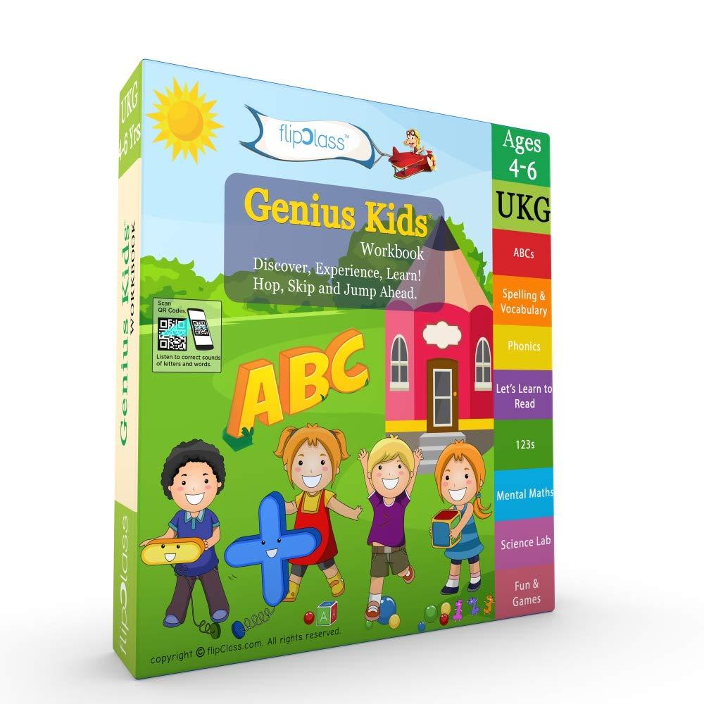 Buy Genius Kids Worksheets for Ukg - Set of 8 Workbooks for ...