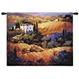 Fine Art Tapestries Evening Glow Large Wall Tapestry 1411-WH 53 inches wide by 53 inches long, 100% cotton