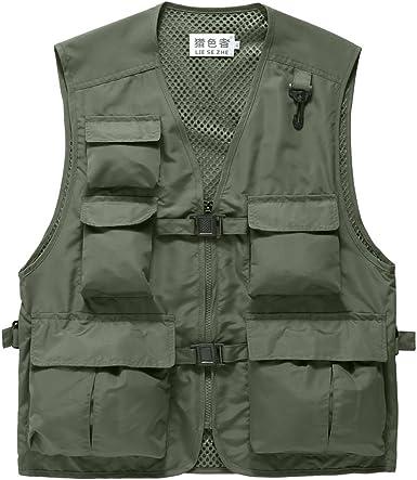 Multi Pockets Fishing Vest Outdoor Hunting Waistcoat Travel Photography Jacket