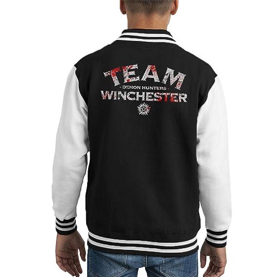 Supernatural Demon Hunters Team Winchester Kid S Varsity Jacket