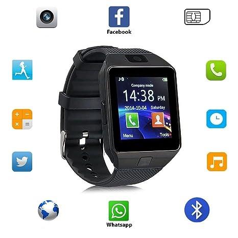 Reloj inteligente Bluetooth 3.0, ranura SIM, TF, 13 funciones, Android 4.3,