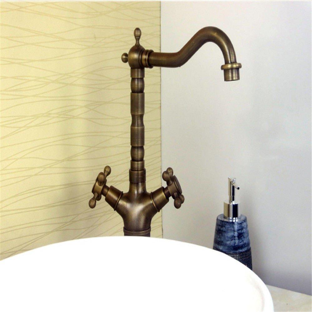 MEIBATH Waschtischarmatur Badezimmer Waschbecken Wasserhahn Küchenarmaturen Messing Keramik Ventileinsatz Retro Küchen Wasserhahn Badarmatur