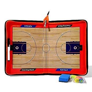 Tavola magnetica da calcio / calcio Colorful Zipper Basketball Tactic Board Basketball Coaching Board Tattiche Appunti di formazione strategia di formazione con spieghi Dimensioni: 53x31 cm Tavola str