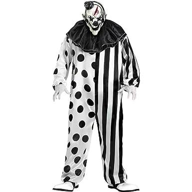 ae1c338b41d9 Amazon.com  FunWorld Killer Clown Complete Costume  Clothing