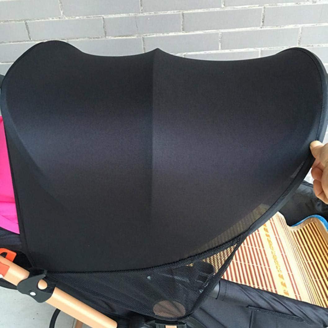 Rameng Canopy b/éb/é Parasol Couverture Pour Poussette Canne Compacte Pare-soleil Poussette Universel Noir