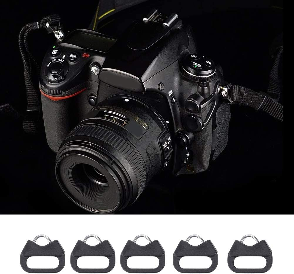 Replacement Alloy Plastic Triangle Split Ring Hook Camera Strap Alloy Split Ring for Small Eyeleys Camera Acouto 5pcs Black Lug Ring