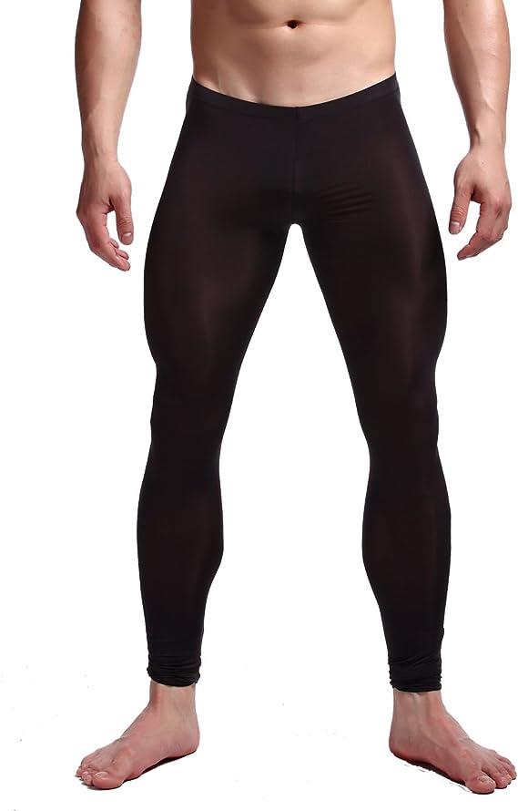 Men/'s Ice Silk Compression Base Layer Tights Pants Bottoms Nightwear Pajamas T47