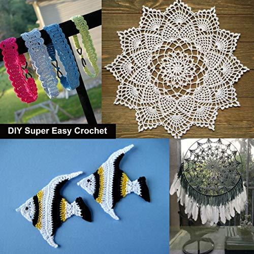 Crochet Thread (10 Pack) Cotton Yarn Threads Balls - 213 Yards Plain Design Assorted Colors - Pearl Cotton Crochet Yarn Crochet Hardanger Cross Stitch Needlepoint Hand Embroidery