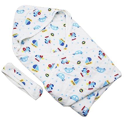 Toallitas para bebé y niñoss Swaddle Manta Bufanda con capucha Muselina Recién nacida y Toalla de