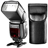 MSD GN60 2.4G Manual HSS Master Slave Flash Speedlite for Sony A7 A7S A7SII A7R A7RII A7II A6000 A6300 A6500 A77II A58 A99 Cameras with New Mi Hot Shoe (NW865S)