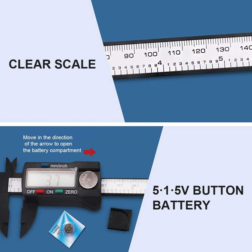 0-150 mm mit gro/ßem LCD-Bildschirm Elektronischer Messschieber Messwerkzeug EisEyen Digitaler Messschieber 0-6 Zoll
