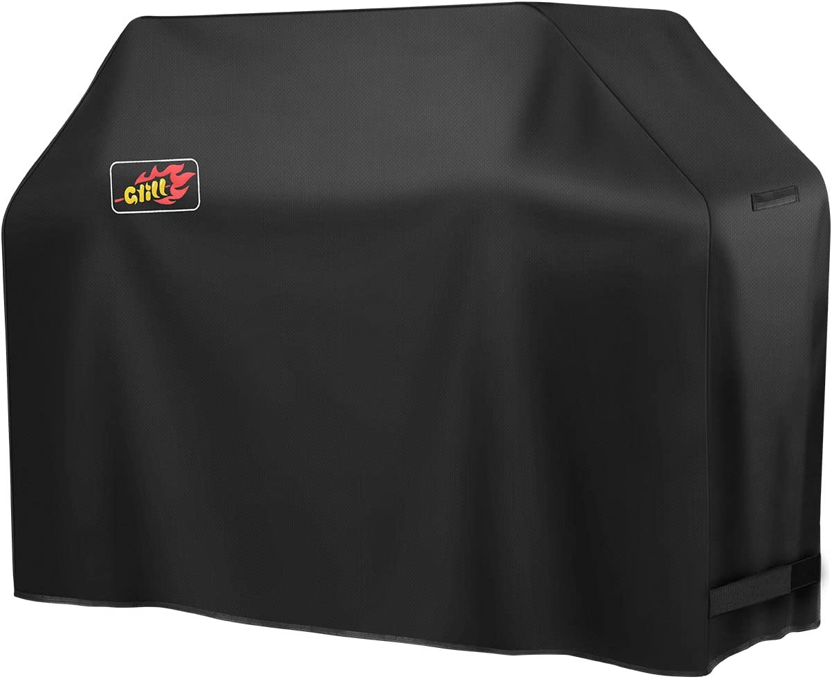 VicTsing BBQ Cover, 600D 58-inch Heavy Duty Waterproof Gas Grill Cover with Handles and Straps Fits Weber, nexgrill, Royal Gourmet,Kenmore,Broil King, Char Broil 3-4 Burner Barbecue Grill
