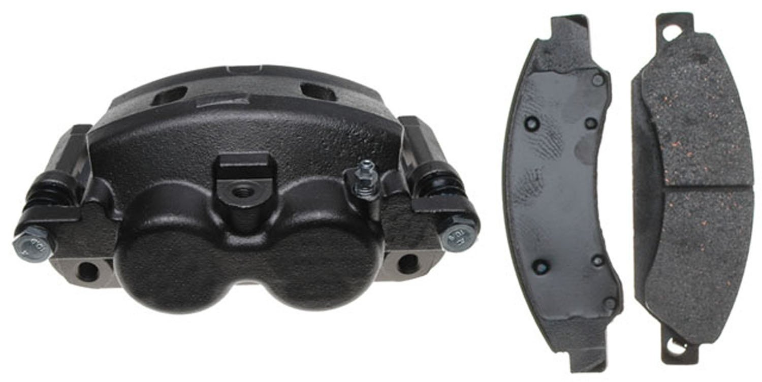 ACDelco 18R2247 Professional Front Driver Side Disc Brake Caliper Assembly with Pads (Loaded), Remanufactured