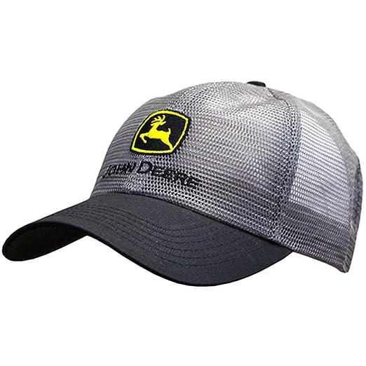 4d29ce13e1d John Deere Classic Logo Mesh Cap-Charcoal at Amazon Men s Clothing ...