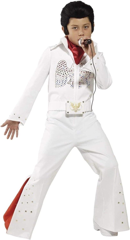 Generique - Disfraz Blanco Elvis niño: Amazon.es: Juguetes y juegos