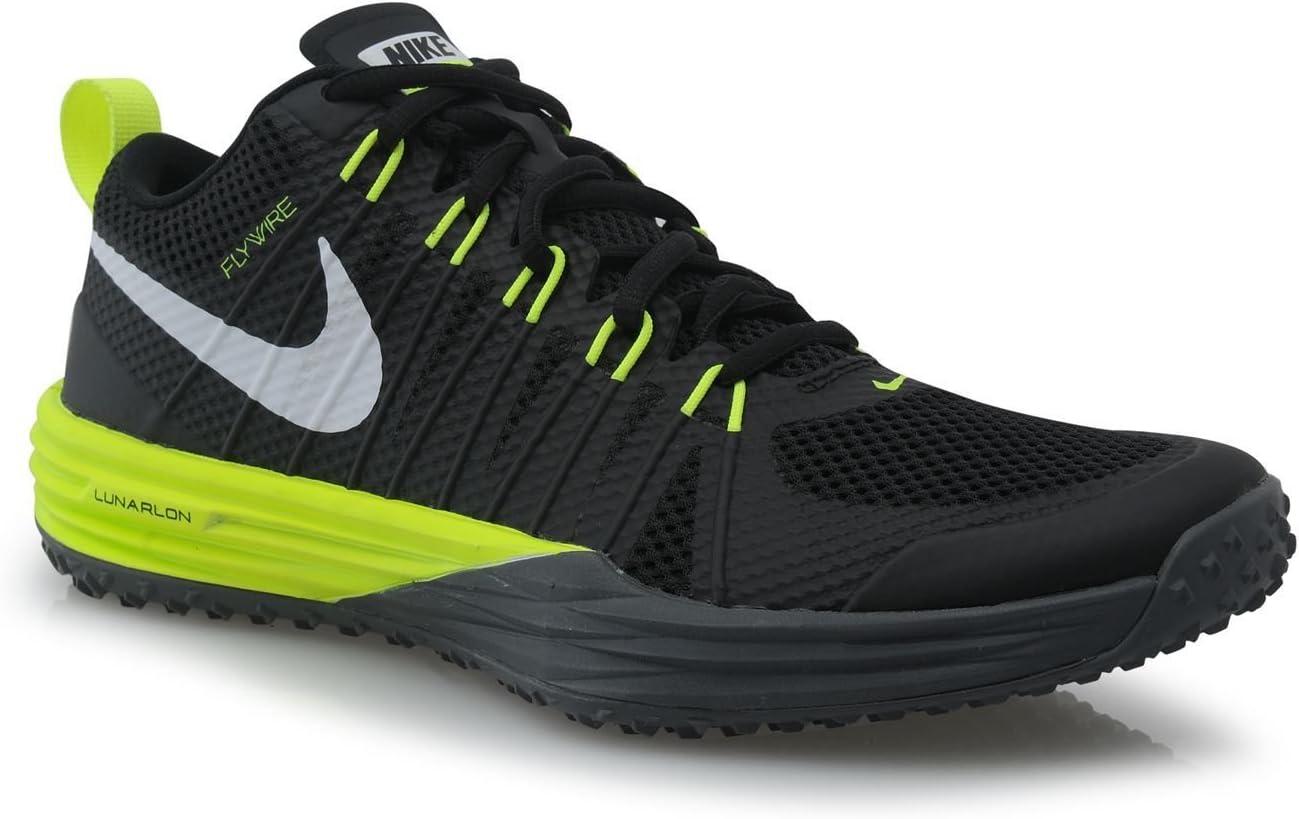 Nike Lunar Tr1 Fitness Zapatillas de Entrenamiento para Hombre Black/Volt Gris Gimnasio Entrenadores Zapatillas, Black/Volt Grey: Amazon.es: Deportes y aire libre