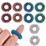 Antner 10 Pack Anti-stress Finger Rings Fidget Toys Spiky Sensory Helps with ADHD ADD OCD Autism, Depressions and Anxiety Disorders for Children and Adults