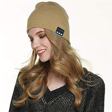Bluetooth berretto invernale unisex berretto di maglia lavabile musicale  con microfono e altoparlanti stereo cuffie vivavoce 959eed81e309