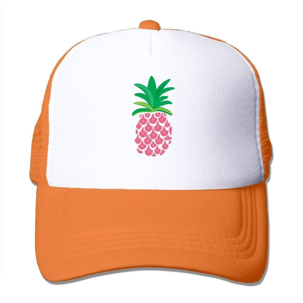 Adult Pink Pineapple Mesh Football Visor Cap Black JTRVW Cowboy Hats