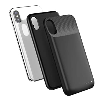 UGREEN 3600 mAh Wireless Charger Battery Case Compatible for iPhone X XS, Rechargeable Backup Battery Black