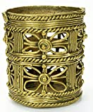 Tribal Vintage style Brass Pen Stand 3.5''Ht India Craft Gift Decor