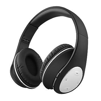 Xunpuls - Auriculares Bluetooth con micrófono para iPhone y teléfono móvil, Auriculares inalámbricos estéreo con Graves Profundos, Plegables y Ligeros, ...