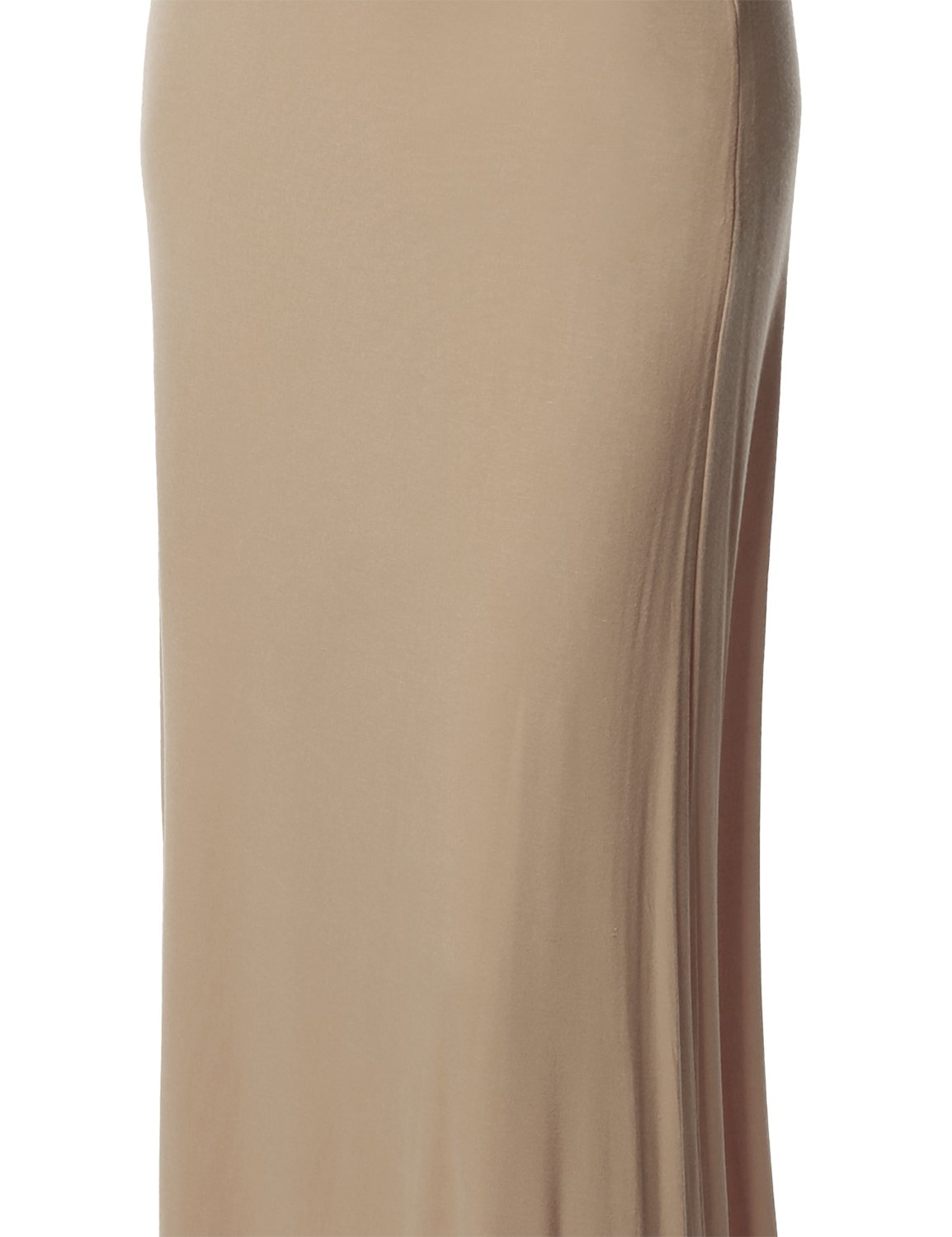 Stylish Fold Over Flare Long Maxi Skirt - Made in USA Beige M by Made by Emma (Image #4)