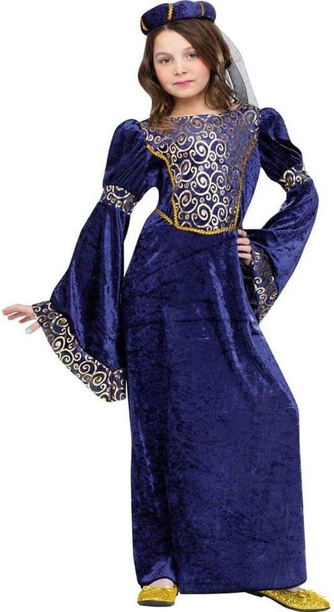 Fun World Renaissance Maiden Costume, Large 12 - 14, Blue