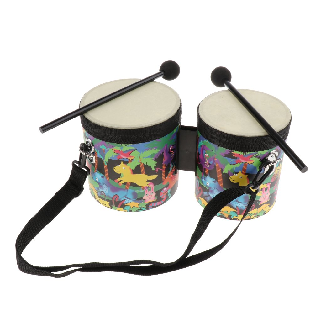 Baosity Hand Drum Set with Case Orff Musical Instruments Toy for Children Gift
