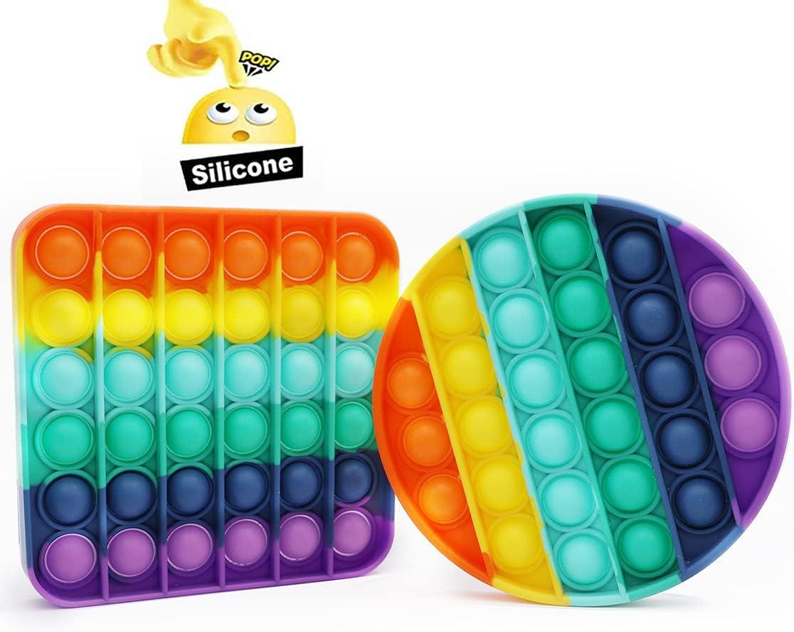 Push Pop Pop Bubble Sensory Fidget Toy Stress and Anxiety Relief method Juguetes de ansiedad Fidget Toy Pack Ansiedad Stress Relief Misis Pop It Fidget Toy Pi/ña Autismo Special Stress Reliever Toy