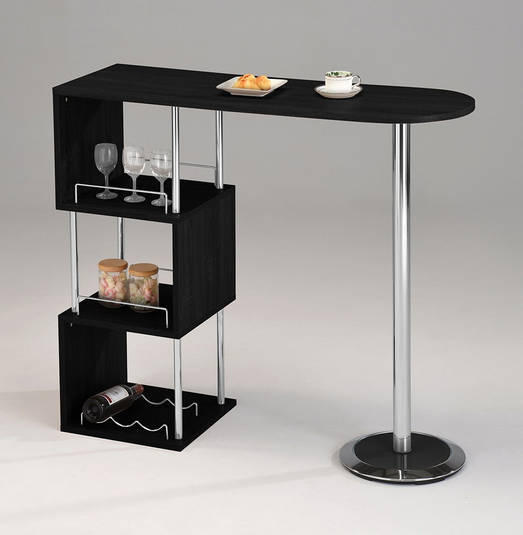 Mini Bar Liquor Counter Table Storage Drink Wine Shelves Alcohol