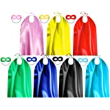 Superhero Capes and Masks for Teenagers and Adult Bulk Pack - Superhero Party Costumes for Team Spirit Building