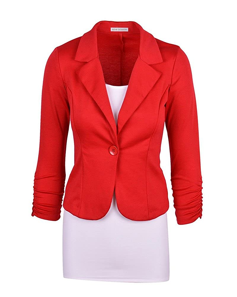 Business Damenblazer Jacke Kurze Jacke Freizeit Oberteile Slim Fit Langen /Ärmeln