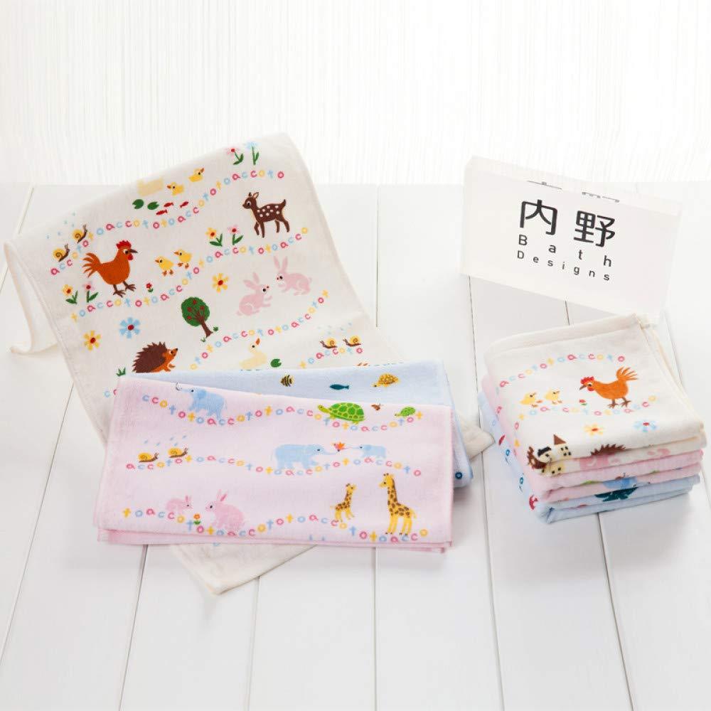 MAOJINMIAN 6 geladen Accooo Baumwolle Cute Cartoon Kinder Handtuch Baby Baumwolle saugfähiges Handtuch