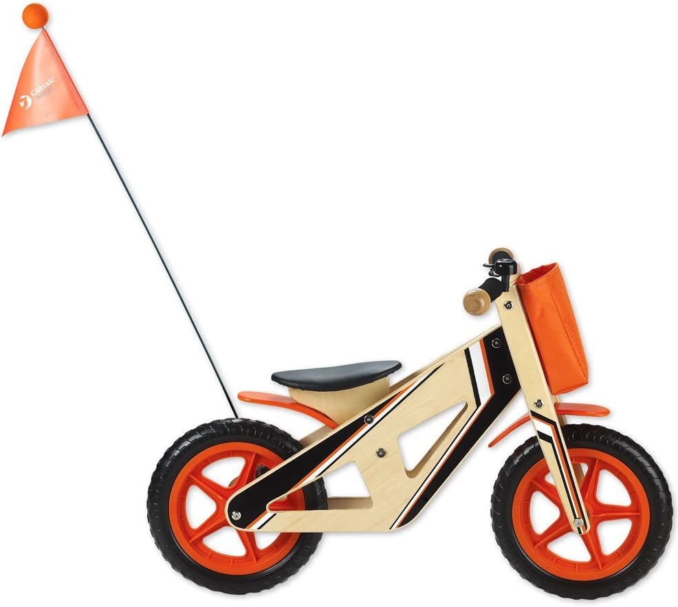 Classic World Toys CL2377 - Bicicleta de madera, color naranja ...