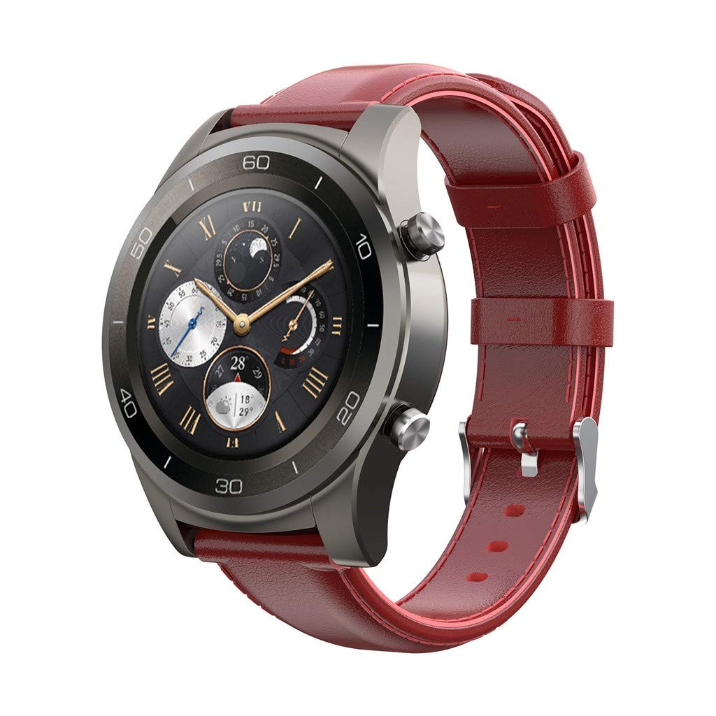 Amazon.com: Cywulin Genuine Leather Band for Amazfit Stratos ...