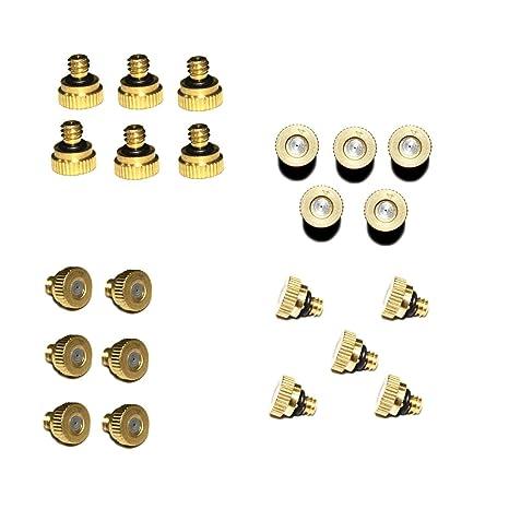 Brass Misting Nozzles Garden Cooling System Orifice Threads Garden Water Atomization Nozzle Sprayer Garden Supplies