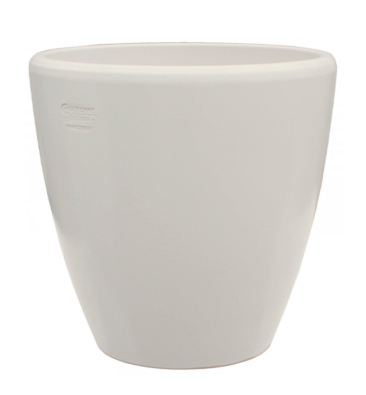 Großer Pflanztopf Pflanzkübel frostsicher rund Ø 45 x 45 cm, Farbe Elfenbein, Form 029.045.49 Blumenkübel für Draußen und Innen - Qualität von Hentschke Keramik