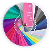 Color Swatch Fan Cool (True) Winter with 35 Colors for Color Analysis and Image Consulting