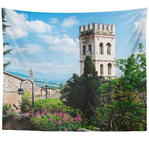 val City - Wall Hanging Tapestry - Picture Photography Artwork Home Decor Living Room - 68x80 Inch (DA417) ()