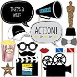 Big Dot of Happiness Movie - Hollywood Party Photo Booth Props Kit - 20 Count