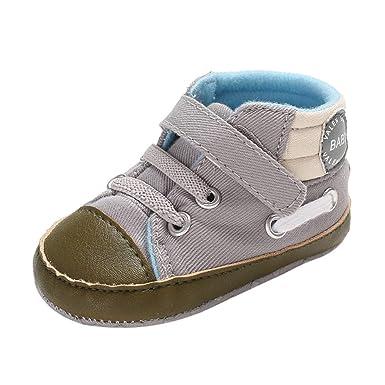 YanHoo Zapatos para niños Botas con Cordones con Estampado de Letras de bebé Botas Calientes Zapatos para niños pequeños Bebé recién Nacido bebés niñas ...